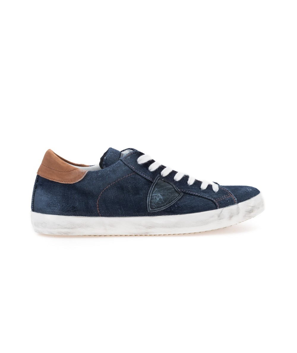 PHILIPPE MODEL SNEAKERS PARIS BLEU JEANS CLLU VN01