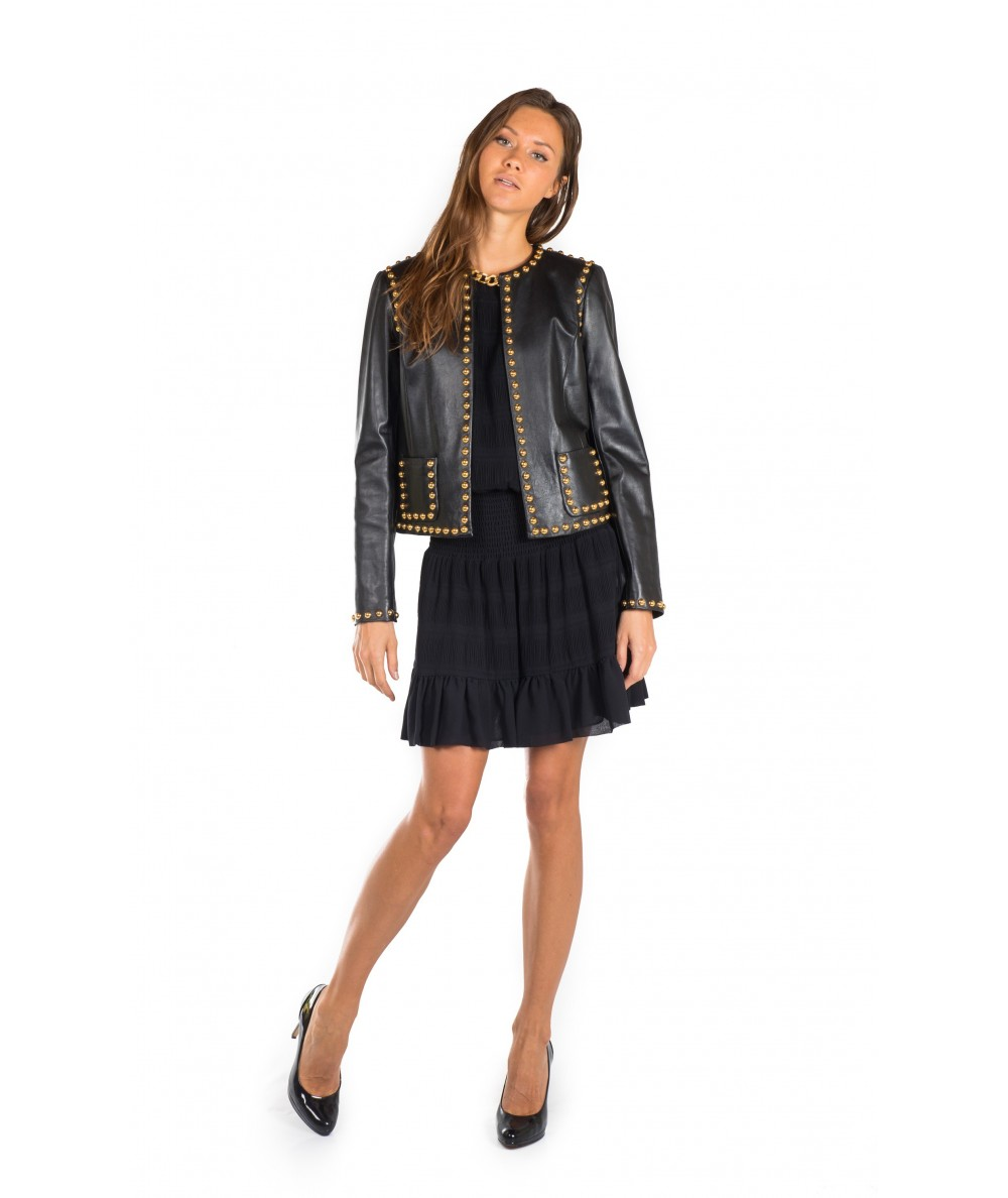 TWINSET GIACCA IN PELLE TS82AN