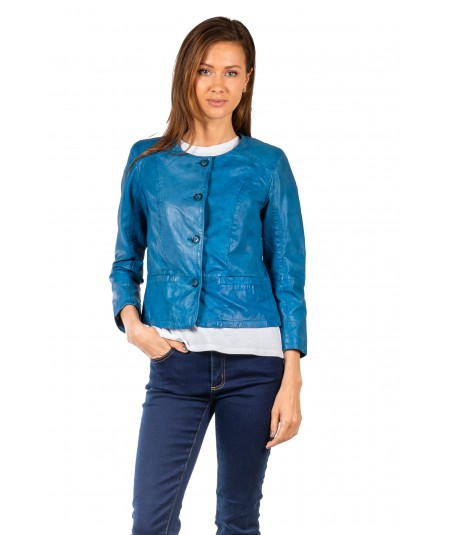 BULLY CHANEL IN PELLE LAVATA 2761 BLU ROYAL