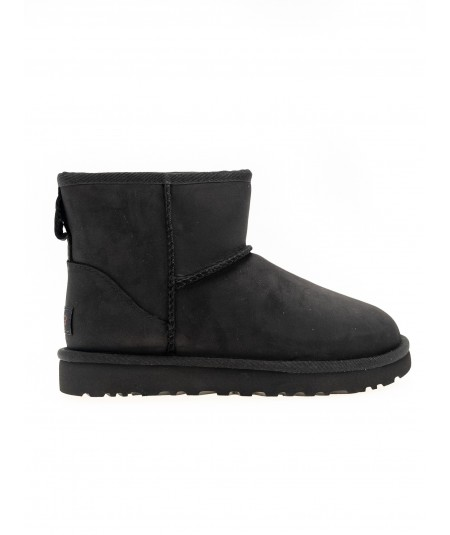 UGG BOOTS CLASSIC MINI LEATHER BLACK 1016558