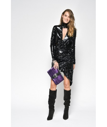 PINKO ABITO FULL PAILLETTES LUKE NERO