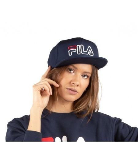 FILA CAPPELLO 6 PANEL CLASSIC CAP SNAP CON LOGO 686024 BLU