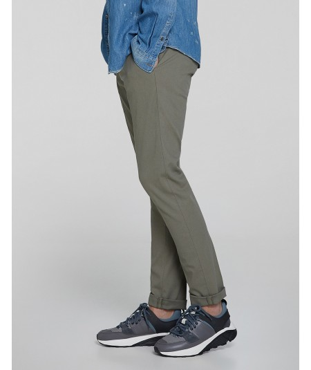 DONDUP PANTALONI GAUBERT SLIM FIT IN COTONE UP235 CS0080 FANGO