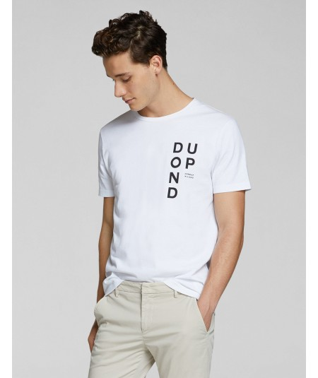 DONDUP T-SHIRT IN COTONE CON LOGO US198 BIANCO