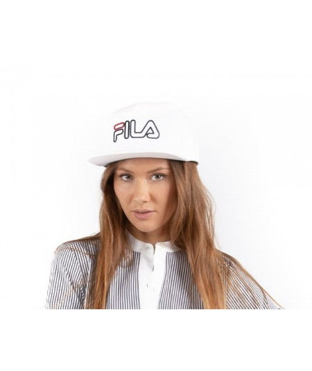 FILA CAPPELLO 6 PANEL CLASSIC CAP SNAP CON LOGO 686024 BIANCO