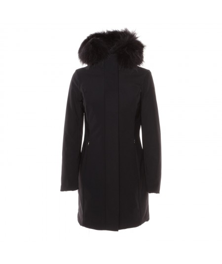RRD PIUMINO WINTER TRENCH LADY FUR W19502FT-10 NERO