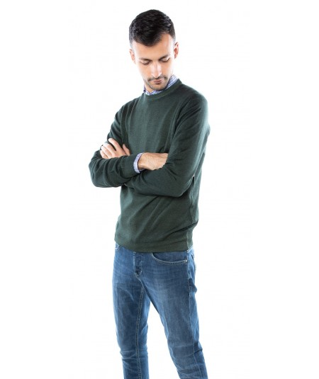 ETRO WASHED ARMY GREEN SWEATER 1M500 9601 500