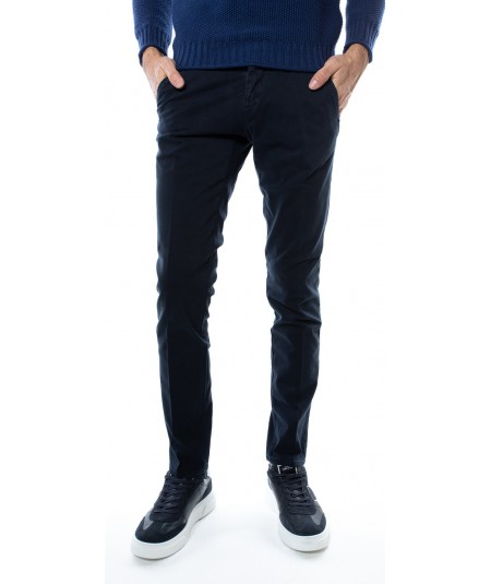 ROY ROGER'S ROLF BLUE CHINO TROUSERS A19RRU013P2590112