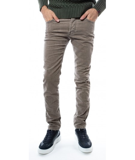 ROY ROGER'S RR'S 529 CORDUROY PANTS IN VELVET A19RSU000T3510111 TAUPE