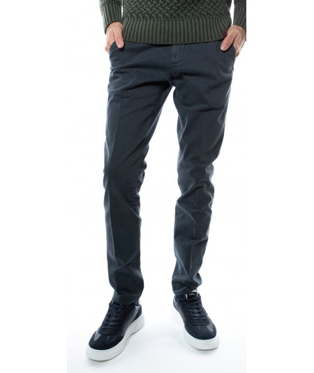 ROY ROGER'S CHINO TROUSERS NEW ROLF MAN MICROPRINTED GABARDINE A19RRU013P2580112 CHARCOAL