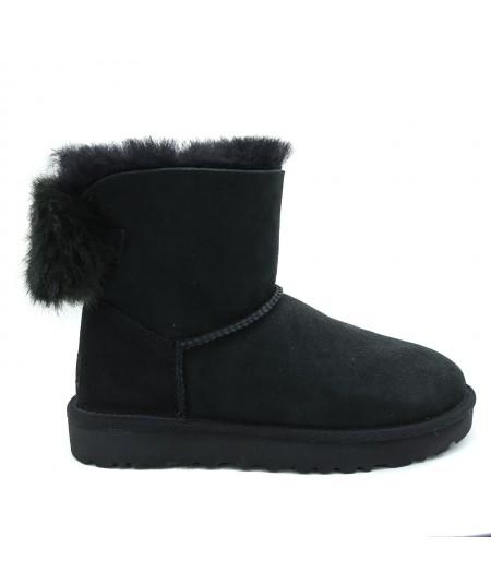 UGG MINI PUFF CRYSTAL BOW BOOTS 1103776W BLACK