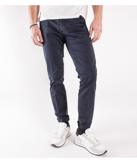 ROY ROGER'S PANTALONE NEW ROLF IN GABARDINA STRETCH P20RRU013C9250112 NAVY BLU