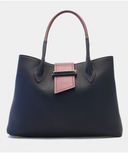 MONDRIAN VENEZIA SHOULDER BAG BLACK LEATHER