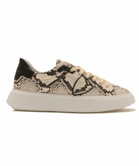 PHILIPPE MODEL SNEAKERS BTLD PY01 TEMPLE PYTHON IN PELLE IN STAMPA PITONE