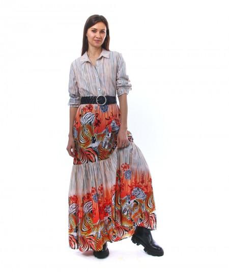 CONNOR&BLAKE AFRICAN SUNSET DRESS QUEEN