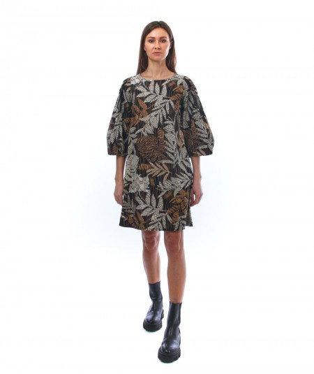 KAOS SAFARI SHORT PRINT DRESS NP1MR039