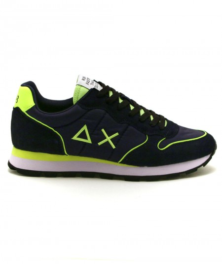 SUN68 RUNNING ADULT TOM NYLON FLUO Z31102 NAVY BLUE