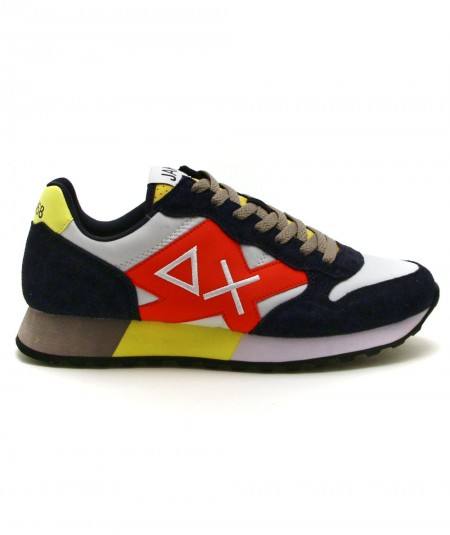 SUN68 RUNNING ADULT JAKI PARTY TIME Z31113 WHITE/NAVY BLUE