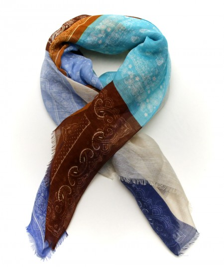 ALTEA SCARF WITH MULTICOLOURED PATTERN 2150001/1