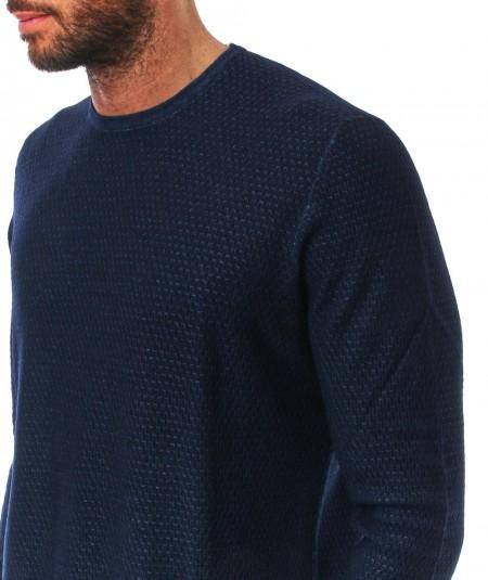 MONDRIAN ROUND NECK PULLOVER 57186 NAVY BLUE