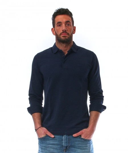 SUN68 POLO SHIRT LONG SLEEVES A31108/07 NAVY BLUE
