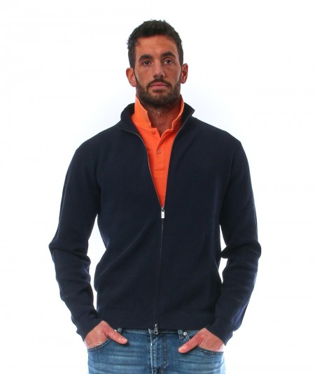 SUN68 PULLOVER FULL ZIP K31119/07 NAVY BLUE