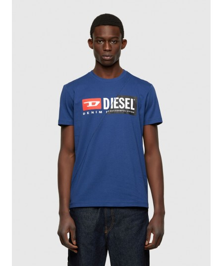 DIESEL BLUE UNISEX T-SHIRT WITH LOGO T-DIEGO-CUTY