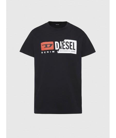 DIESEL BLACK UNISEX T-SHIRT WITH LOGO T-DIEGO-CUTY