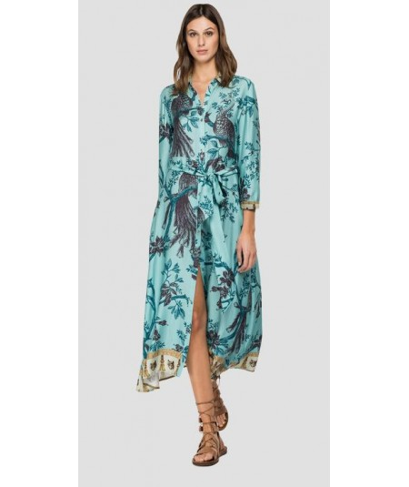 REPLAY DRESS WITH ALL-OVER PRINT W9561A.000.72294
