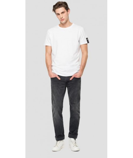 REPLAY SLIM FIT HYPERFLEX RE-USED ANBASS JEANS M914Y.661RB08