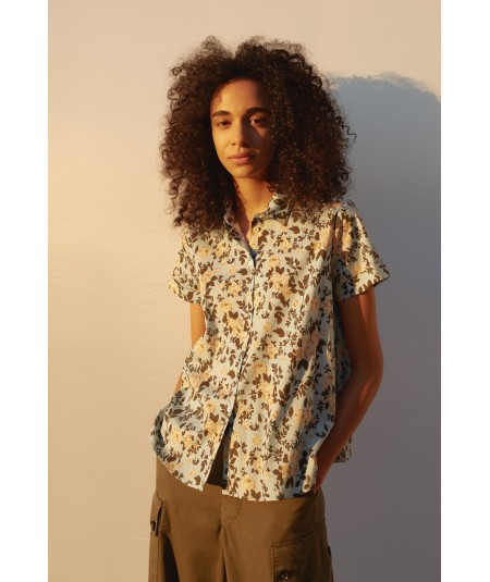 SEMICOUTURE ALEXIA SHIRT WITH FLOWERS Y1SR02/FAN55