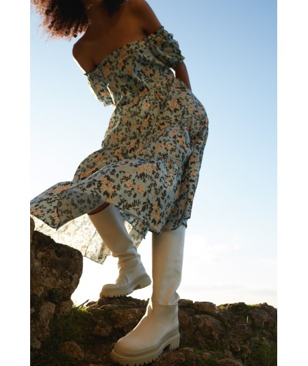 SEMICOUTURE AMANDINE DRESS WITH FLOWERS Y1SR04/FAN55