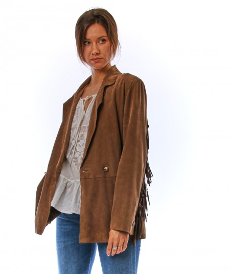 BULLY SUEDE JACKET WITH FRINGES 6512/665