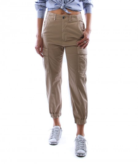 SEMICOUTURE TROUSERS WITH POCKETS Y1SO06 BEIGE