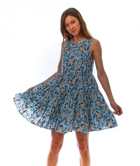 SEMICOUTURE ANGELINE DRESS WITH FLOWERS Y1SR03/FAN55