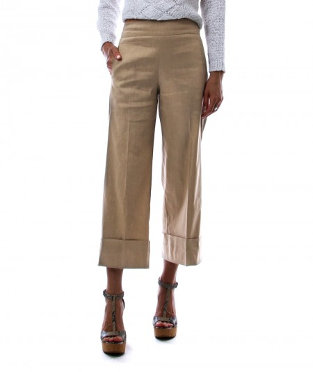 D.EXTERIOR TURN-UP TROUSERS 52554 BEIGE