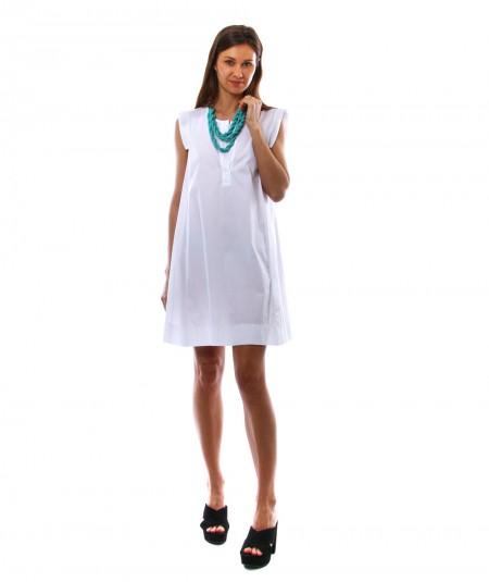 KAOS SHORT WHITE A-LINE DRESS NPJTZ069