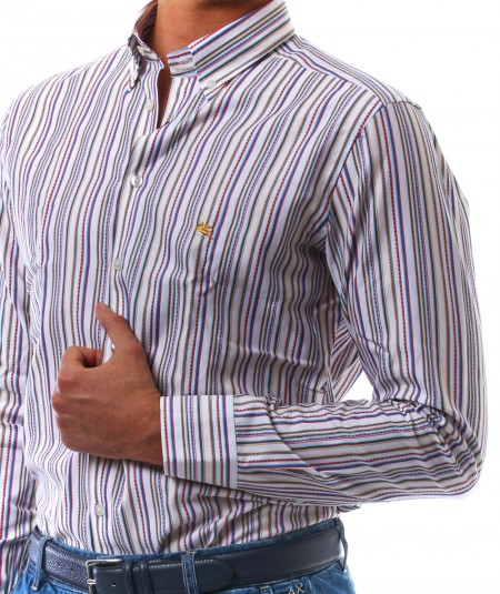 ETRO STRIPED SHIRT WITH PEGASUS 1K964 6116 8000