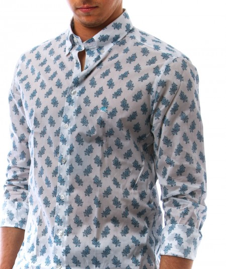 ETRO PAISLEY SHIRT WITH PEGASUS LOGO 1K964 4763 990