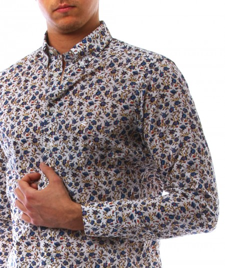 ETRO FLORAL SHIRT WITH PEGASUS LOGO 1K964 4769 990