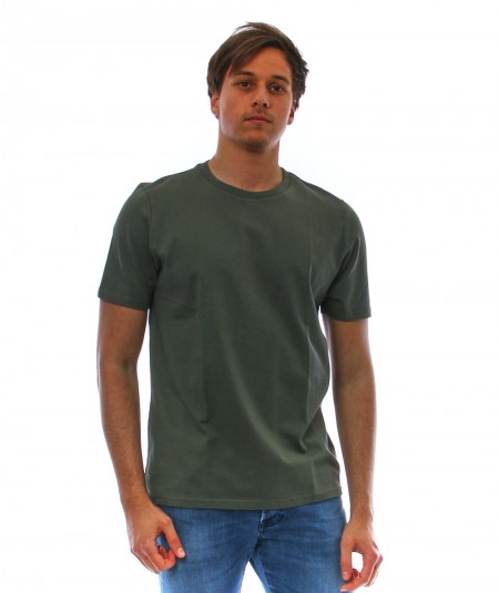 ALTEA ARMY GREEN T-SHIRT IN COTTON 215255