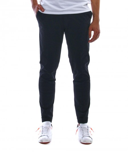 RRD CHINO TROUSERS WITH PIED DE POULE PATTERN 21209 BLUE AND BLACK