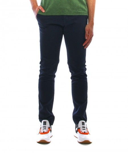 BERWICH CHINO TROUSERS TWILL COTTON COLOR NAVY TS0424X