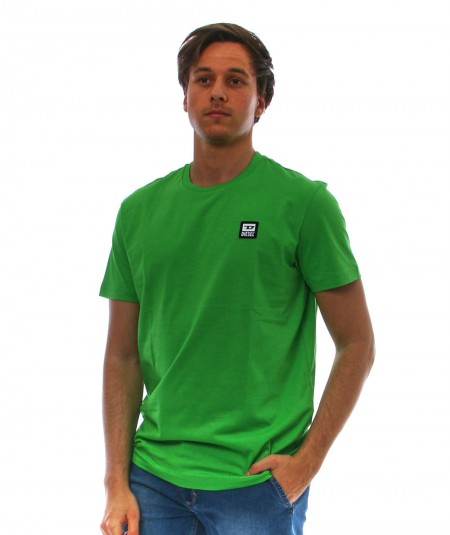 DIESEL GREEN T-SHIRT WITH LOGO PATCH T-DIEGO-K30