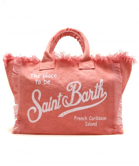 MC2 SAINT BARTH BAG IN CANVAS FABRIC PINK VANITY