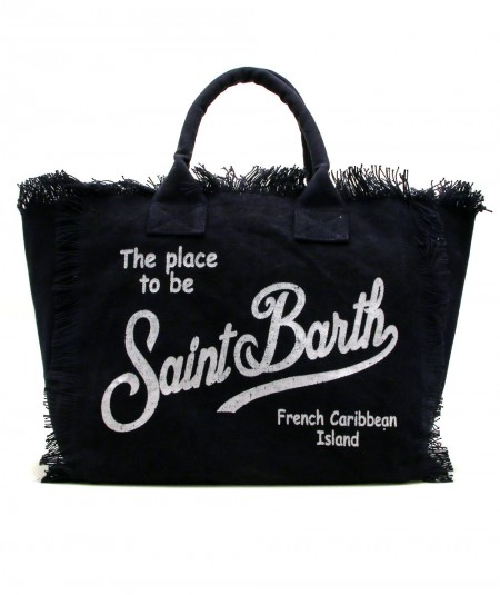 MC2 SAINT BARTH BAG IN CANVAS FABRIC DARK BLUE VANITY