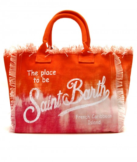 MC2 SAINT BARTH BAG IN CANVAS FABRIC IN TIE DYE PINK AND ORANGE PATTERN VANITY