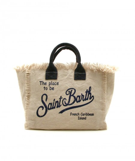 MC2 SAINT BARTH SMALL BAG IN CANVAS FABRIC BEIGE COLETTE