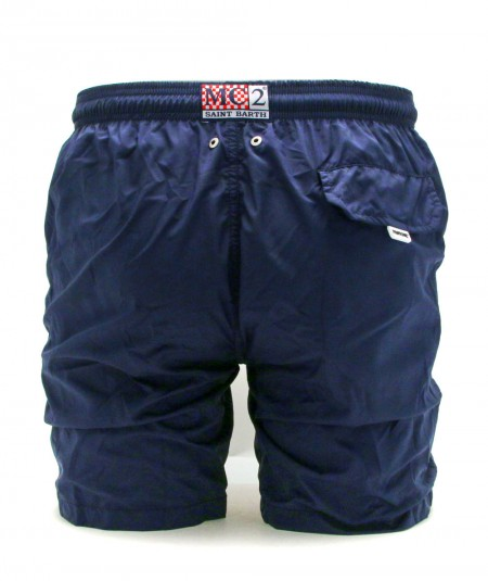 MC2 SAINTH BARTH BOXER SOLID COLOUR DARK BLUE LIGHTING PANTONE