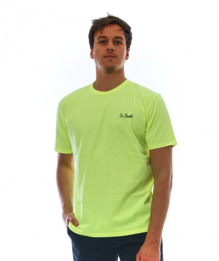 MC2 T-SHIRT WITH EMBROIDERED LOGO FLUO YELLOW DOVER